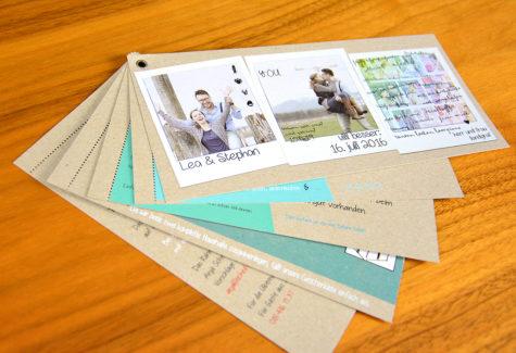 Hochzeitskarte mit Weissdruck