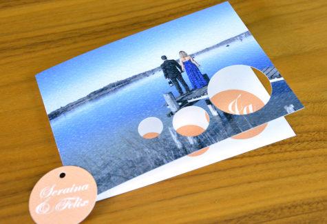 Hochzeitskarte mit Stanzung