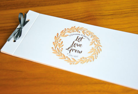 Hochzeitskarte mit Laserstanzung